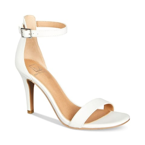 Material Girl Womens Blaire6 Open Toe Formal Strappy Sandals