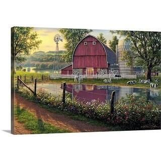 """Barnyard Memories"" Canvas Wall Art"