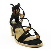Dolce Vita Womens Misha Black Sandals Size 8.5