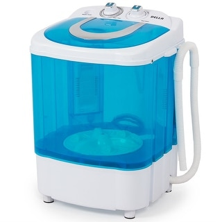 Della Electric Small Mini Portable Compact Washer Washing Machine (8.8 LB Capacity), Blue