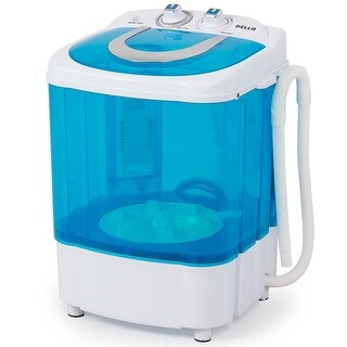 Della Electric Small Mini Portable Compact Washer Washing Machine (8.8 LB Capacity), Blue