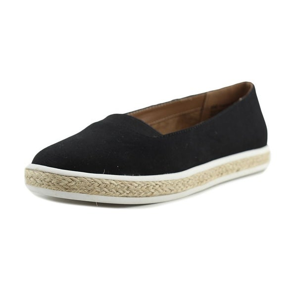 A2 By Aerosoles Funny Bone Women Round Toe Canvas Black Loafer