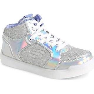Skechers S Lights Energy Lights Ultra Glitzy Glow Girls Light Up Sneakers Silver 2.5