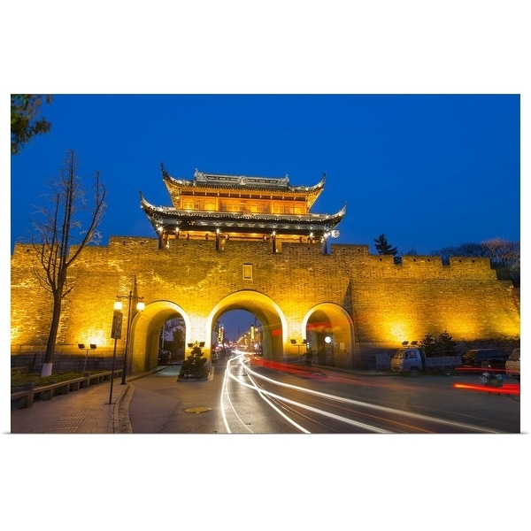 """The ancient Chang Gate, Suzhou, China"" Poster Print"