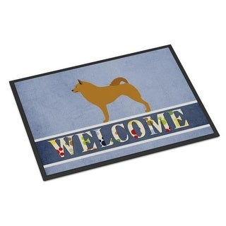 Carolines Treasures BB8343MAT Finnish Spitz Welcome Indoor or Outdoor Mat - 18 x 27 in.
