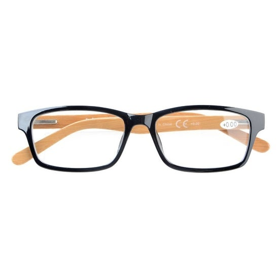 2-pack Spring Hinges Bamboo Temples Reading Glasses