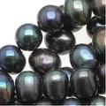 Dark Peacock Round Potato Pearls 5-7mm (16 Inch Strand) - Thumbnail 0