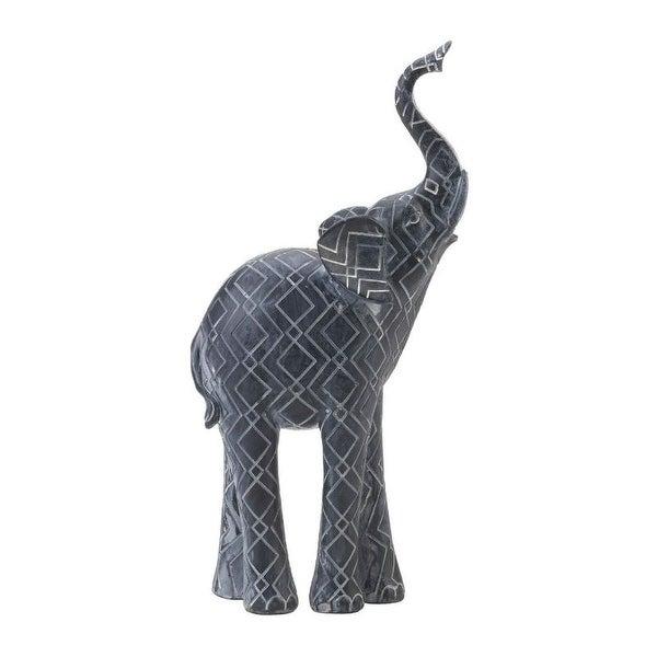 Etched Elephant Figurine