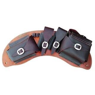 Bar H Equine Western Saddle Bag Skirt Medicine Cantle Chestnut