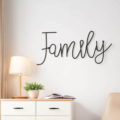 FAMILY Metal Wall Decor - One Size