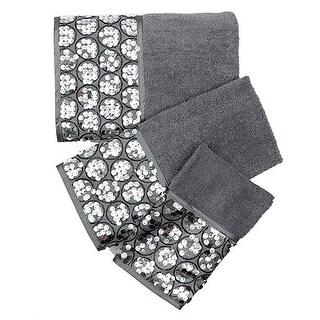 Popular Bath Sinatra Sequin 3-Piece Towel Set, Silver