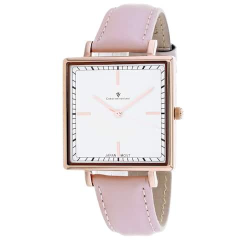 Christian Van Sant Women's Callista White Dial Watch - CV0414 - One Size