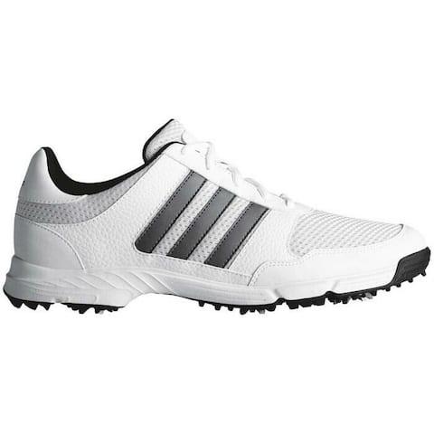 New Adidas Tech Response 4.0 Golf Shoes White/Dark Silver Metallic/Core Black F33549 (MED)