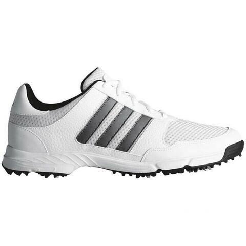 New Adidas Tech Response 4.0 Golf Shoes White/Dark Silver Metallic/Core Black F33552 (WIDE)