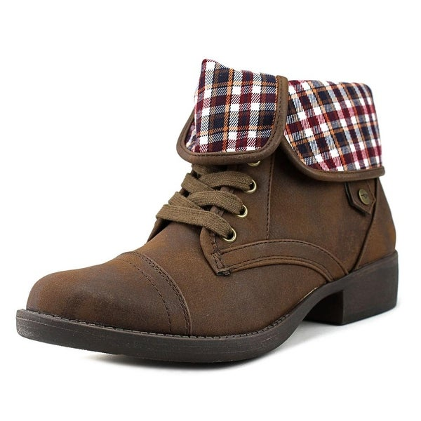 Rocket Dog Taylor Graham Women Round Toe Synthetic Brown Bootie
