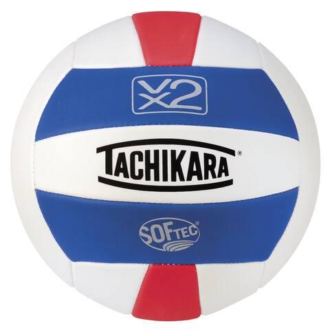 Tachikara SofTec VX2 Volleyball, Royal - White - Scarlet