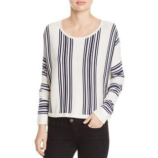 Splendid Womens Crop Sweater Wool Blend Striped - xs