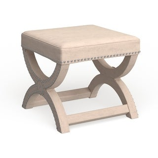 Link to Safavieh Dante X-Bench Cream Ottoman Similar Items in Living Room Furniture