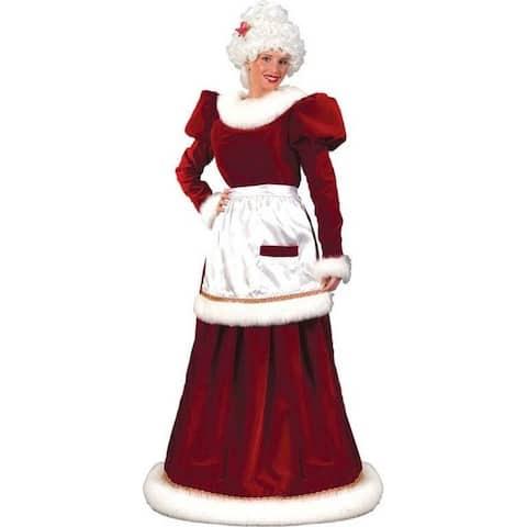 Ultra Velvet Mrs. Claus Christmas Costume - Adult Size Medium/Large (10-14) - large