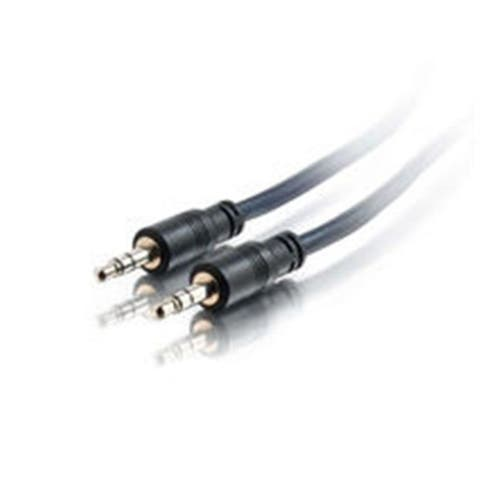 Cables To Go 40518 50Ft Plenum-Rated 3.5Mm Stereo Audio Cable With Low Profile Connectors