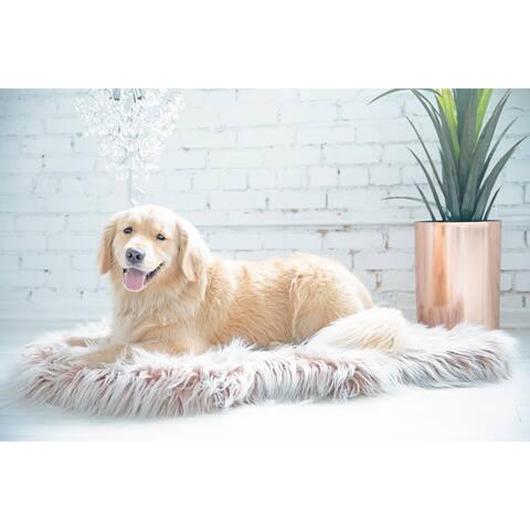 Snoozzy Glam Pet Orthopedic Rug Dog Bed