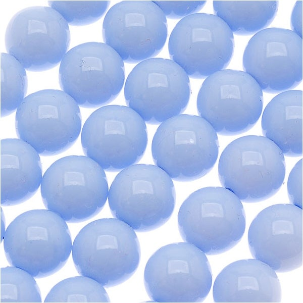Czech Glass Round Party Beads 6mm - Pale Blue (1 Strand / 29 Beads)