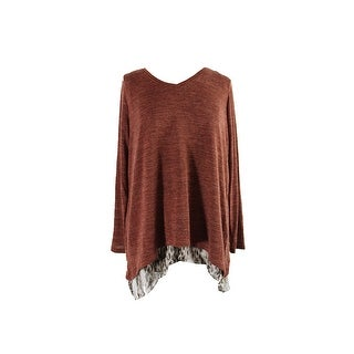 Style & Co. Plus Size Brown Leopard-Print V-Neck Layered-Look Top 3X