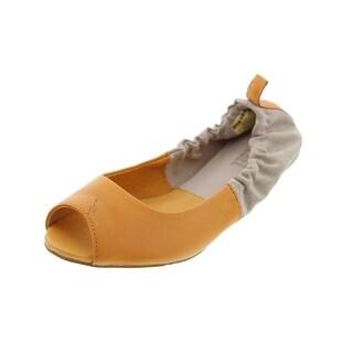 Diesel Womens Pointy Girls Tippy Peep-Toe Ballet Flats