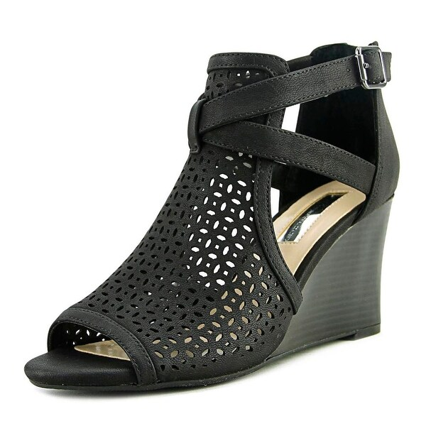 INC International Concepts Reiaa Women Black Sandals