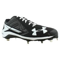 Under Armour Mens Yard Black Baseball Cleats Size 16