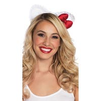 Lace Hello Kitty Ears, Hello Kitty Ear Headband - white/red - One Size Fits most