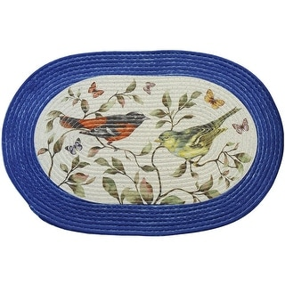 Love Birds Braided Decorative Kitchen Rug, 20x30 Inches