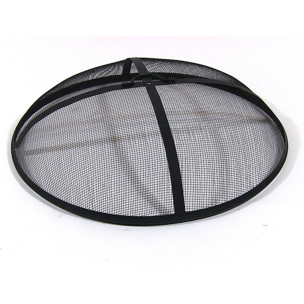 Sunnydaze Fire Pit Spark Screen - Size Options Available - Black