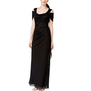 R&M Richards Womens Evening Dress Drapey Chiffon