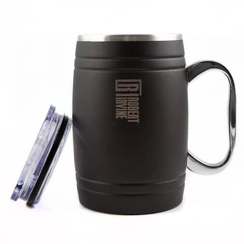 Robert Irvine by Cambridge Silversmiths Insulated 20 oz Beer Mug - Set of 2 - 20 ounce