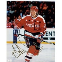 Signed Tinordi Mark Washington Capitals 8x10 Photo autographed