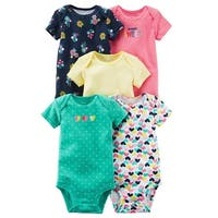 Carter's Baby Girls' 5-Pack Short-Sleeve Original Bodysuits