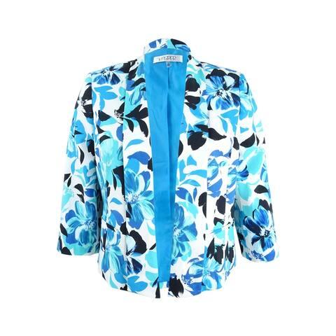 Kasper Women's Floral-Print Shawl-Collar Blazer