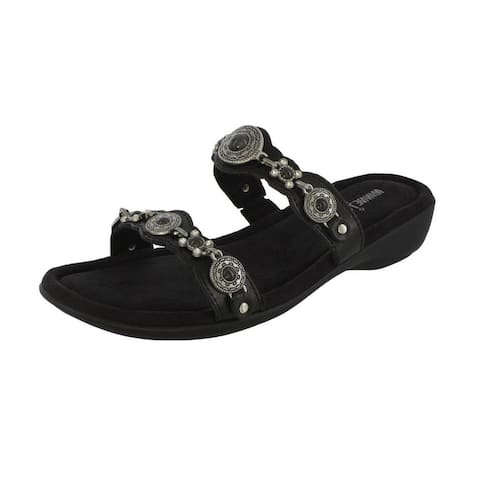 Minnetonka Sandal Womens Boca Slide III Slip On Thong Leather