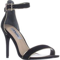 Nina Caela Ankle Strap Sandals, True Black Glam - 8.5 us / 38.5 eu