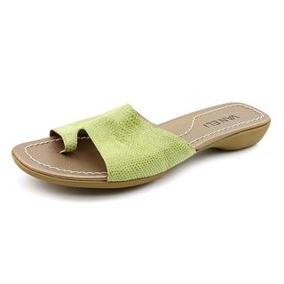 Vaneli Tallis W Open Toe Leather Slides Sandal