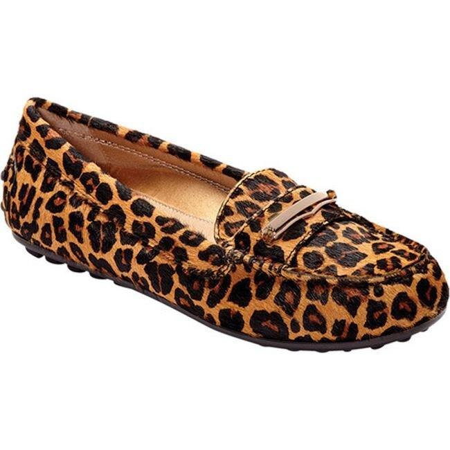 Ashby Loafer Tan Leopard Haircalf