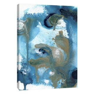 "PTM Images 9-105129  PTM Canvas Collection 10"" x 8"" - ""Topography Experiment 1"" Giclee Abstract Art Print on Canvas"