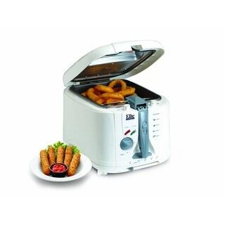 Maxi-Matic EDF-888XT Elite 5-Quart Cool Touch Deep Fryer w/Timer, White