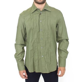 Ermanno Scervino Green Cotton Casual Long Sleeve Shirt Top - it50-l