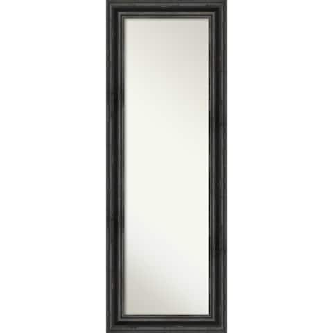 On The Door Full Length Wall Mirror, Rustic Pine Black: Outer Size 19 x 53-inch - 53.38 x 19.38 x 0.757 inches deep
