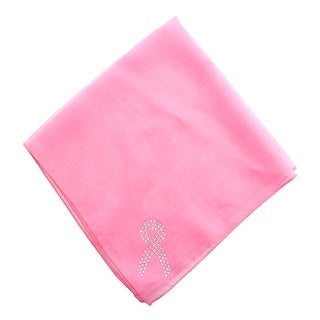 Breast Cancer Awareness Pink Scarf with Rhinestone Bow