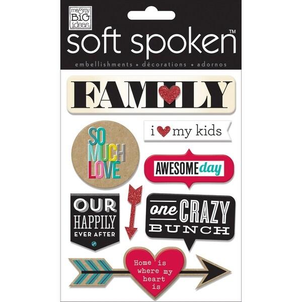 Soft Spoken Themed Embellishments-Family - So Much Love