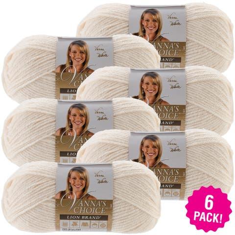 Lion Brand Vanna's Choice Yarn 6/Pk-Fisherman - White