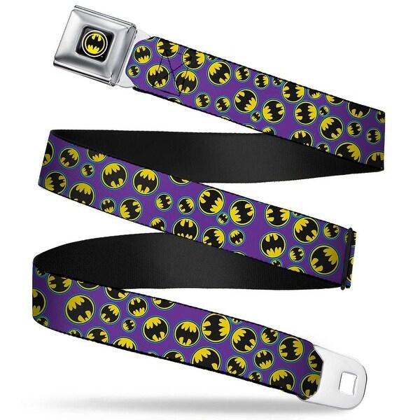 Bat Signal Full Color Black White Yellow Bat Signal Scattered Purple Blue Seatbelt Belt